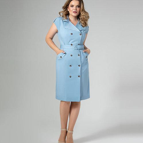 Платье голубое 442680