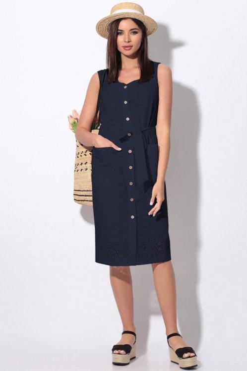 Платье синее 11-20