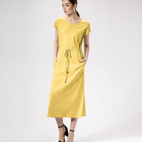 Prio платье серое / горчица 476280
