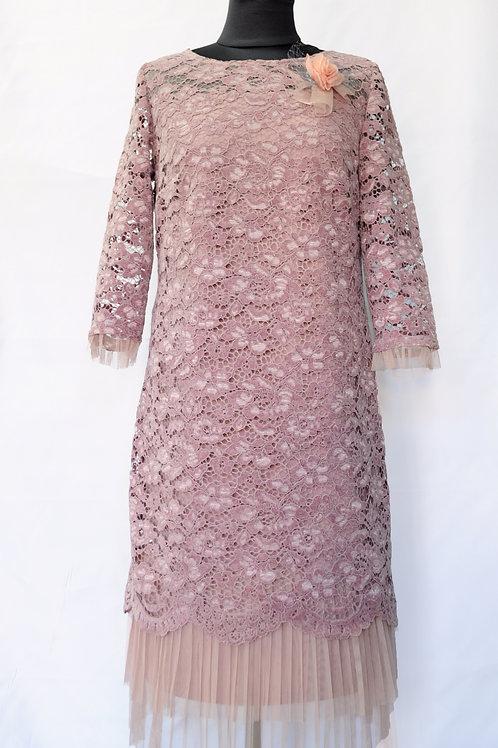 Платье розовое 549