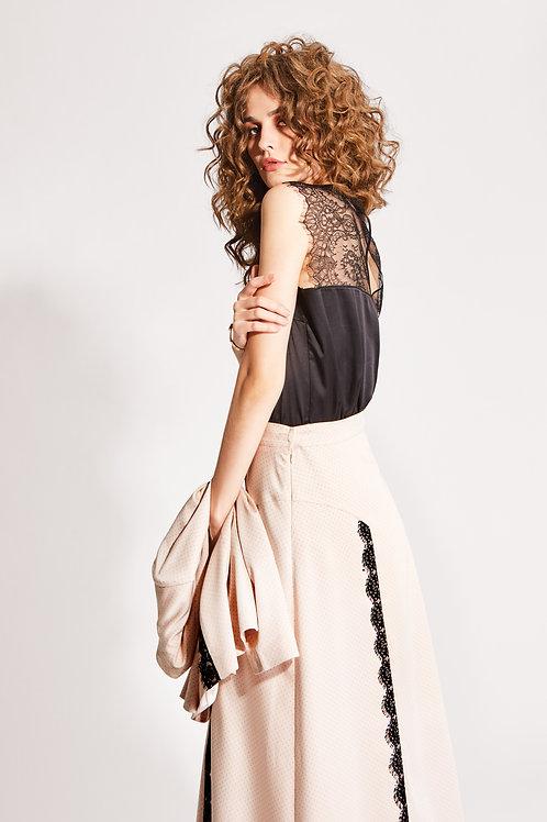 Noche Mio блуза черная/белая Praline