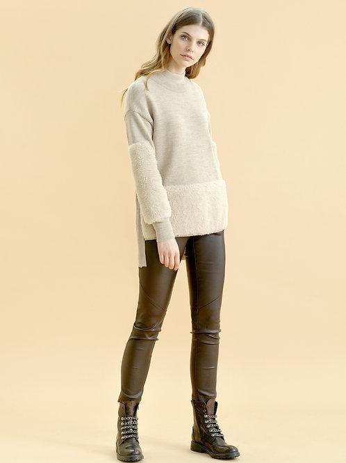 Burvin  брюки коричневые / синие 6510