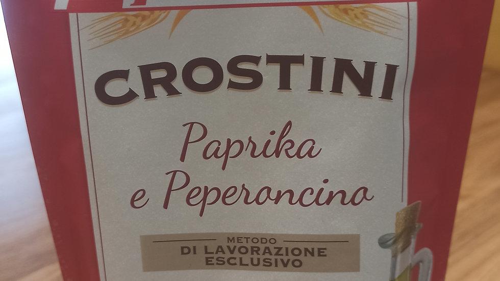 Paprika and chilli crostini