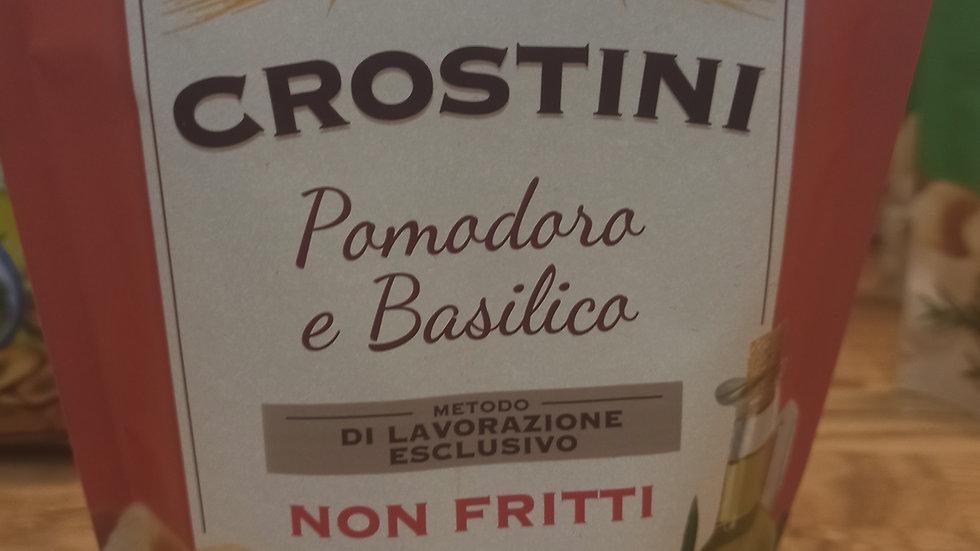 Basil and tomato crostini