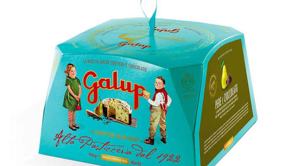Galup Grand traditional panettone with pears and chocolate