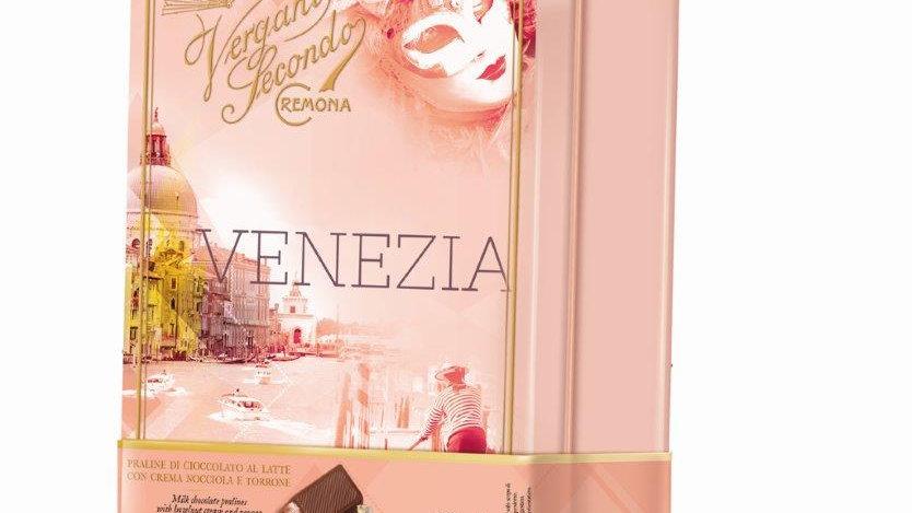 Venezia Chocolate & Nougat cream praline Tin Box