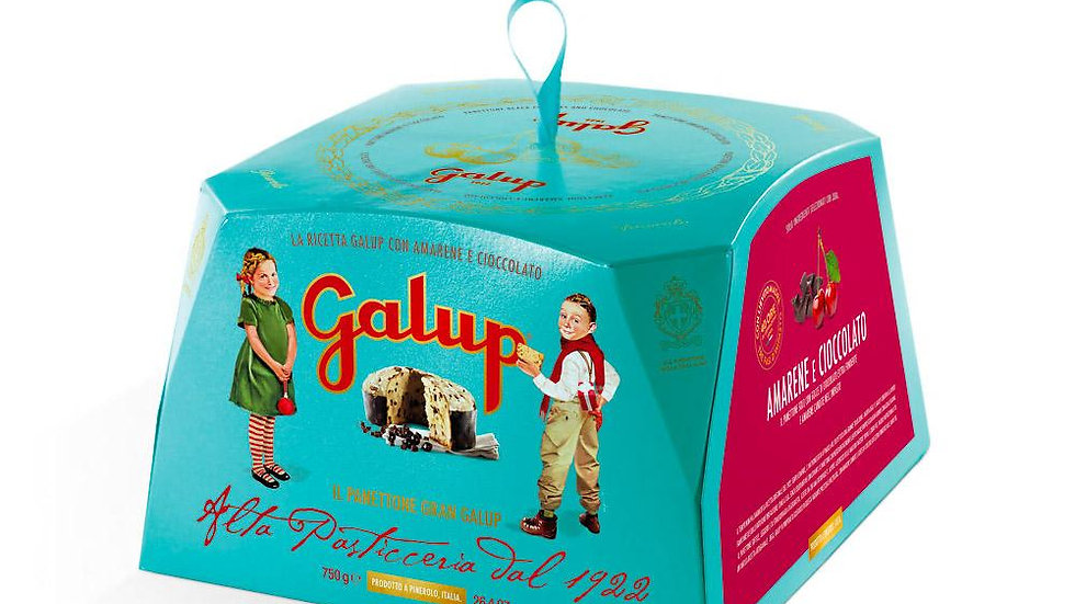 Galup Grand traditional panettone with cherries and chocolate