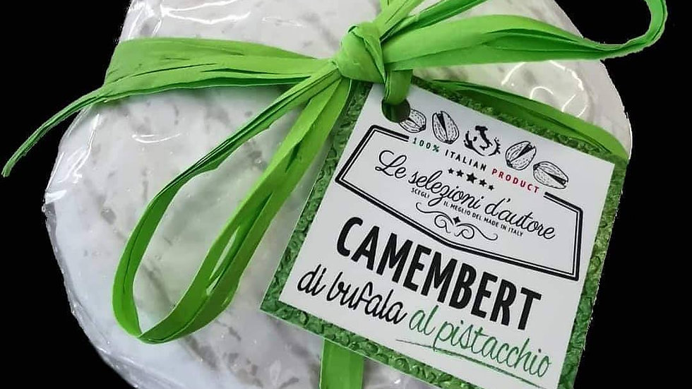 Buffalo camembert with pistachios