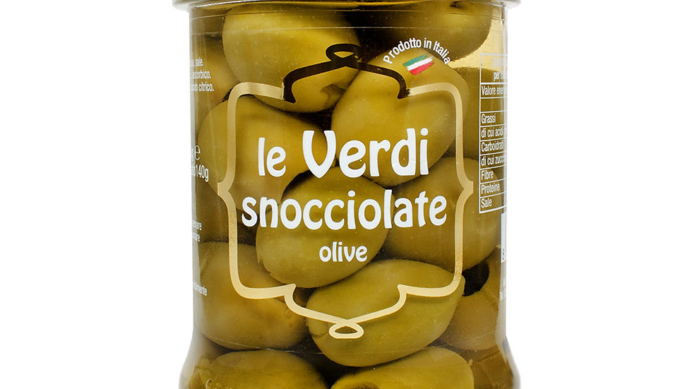 Big pitted green olives