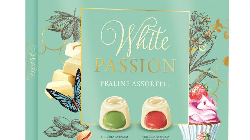 White passion box - strawberry and pistachio