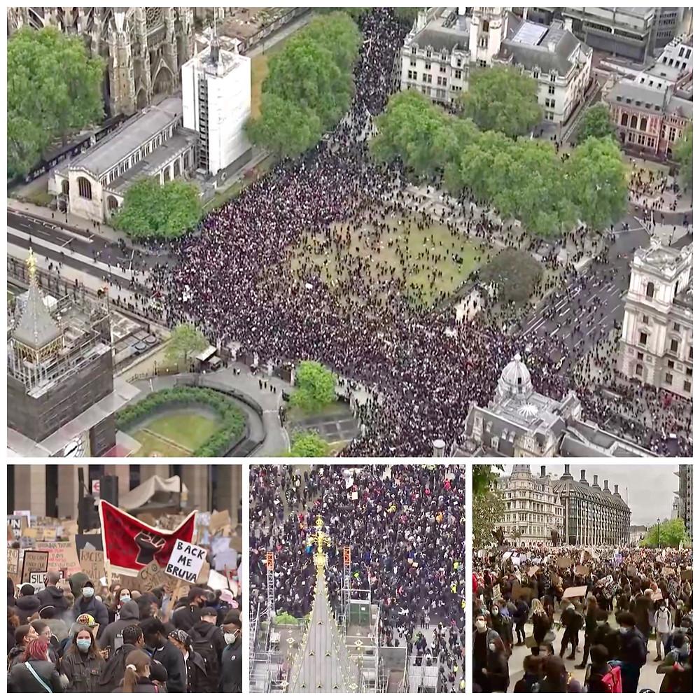 London, UK, United Kingdom, Great Britain, Europe, Black Lives Matter Protest, George Floyd