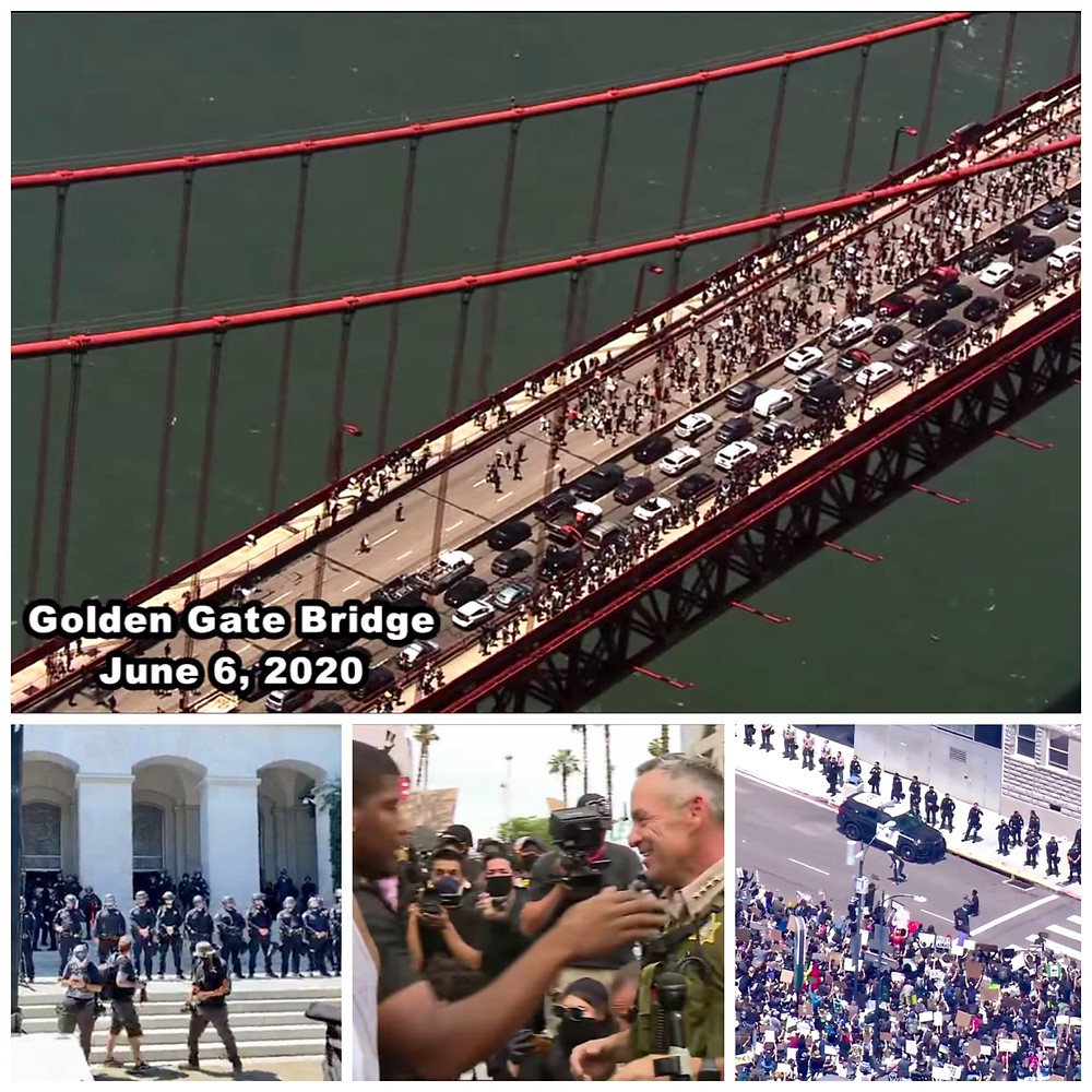 San Francisco, Golden Gate Bridge, George Floyd, Protests, Police Brutality, BLM