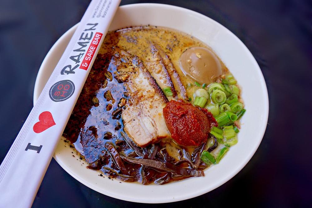 Ramen. Soup. Bowl. Food. Miso. Chopsticks. Temecula.