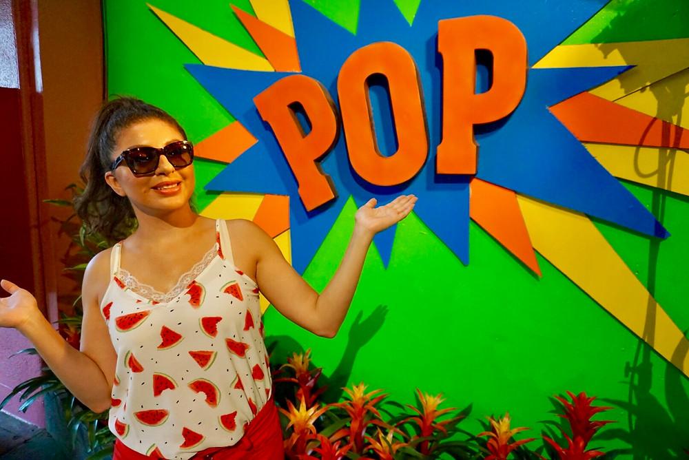 GIRL POP CULTURE ART COLOR SHADES