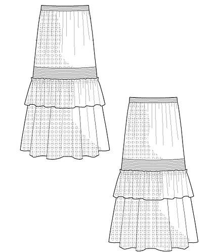 Import lace long skirt