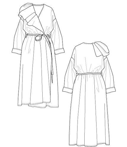 9 oz denim dress coat