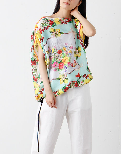 Fruit print design blouse