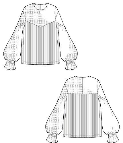 Import lace blouse