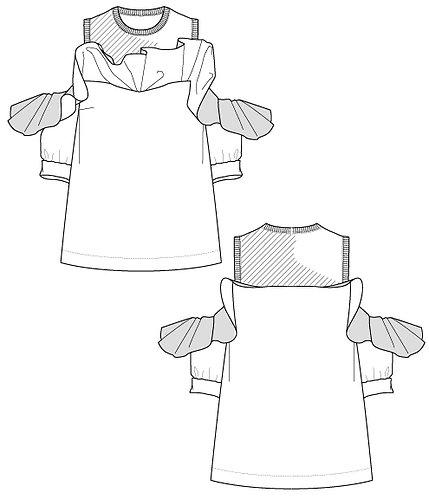 Raffle frill pullover