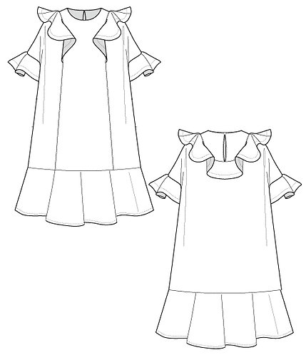 Ruffle frill sweat dress