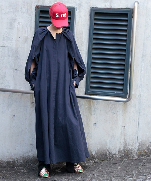 Slit sleevse dress