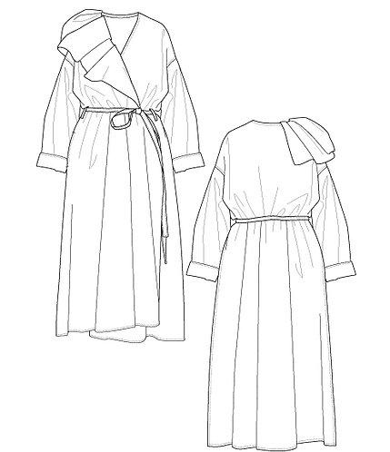 Taslan ox dress coat