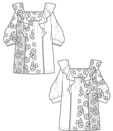 Imported floral blouse