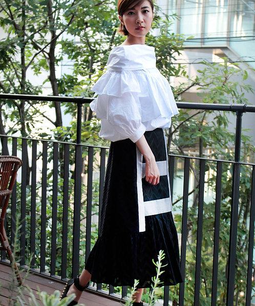 Cotton typewriter Peasant blouse