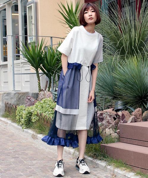 Tulle pleated dress