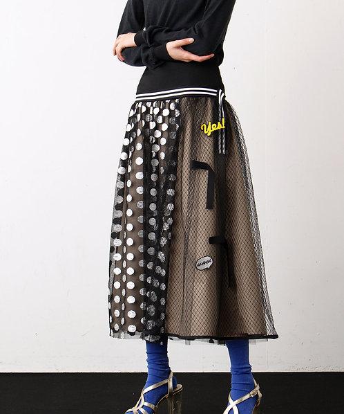 Import Dot Tulle Skirt