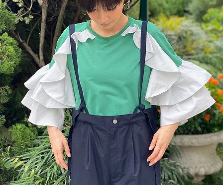 Ruffle frill design pullover