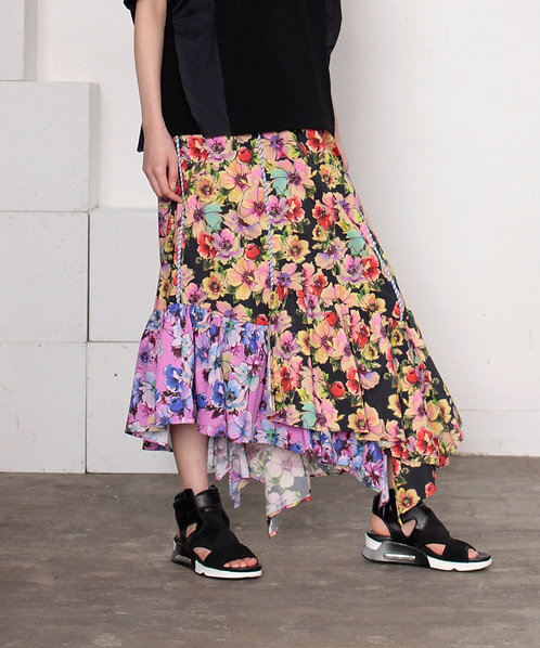 Imported floral skirt