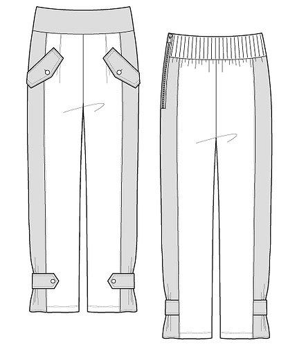 Cut-sew × Nylon stretch pants