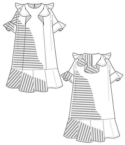 Ruffle frill border dress