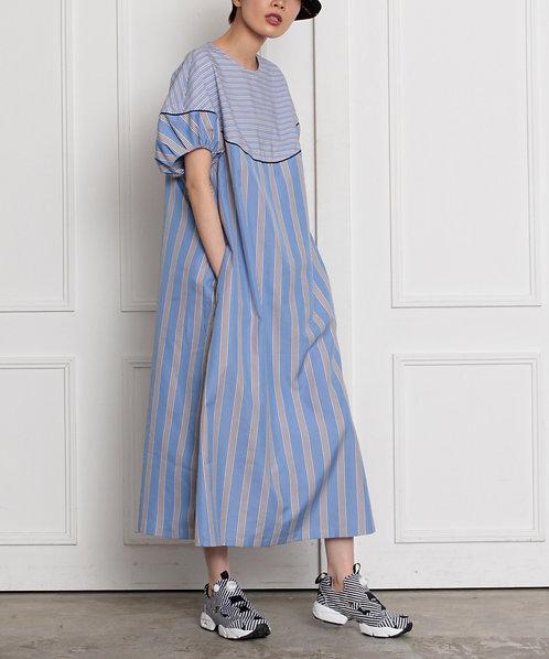 Stripe switching dress