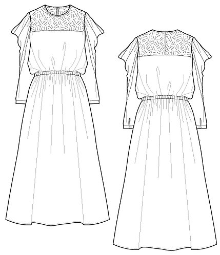 Import dot/leopard print race switching dress