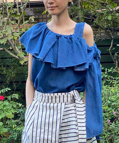 7.5oz denim design blouse
