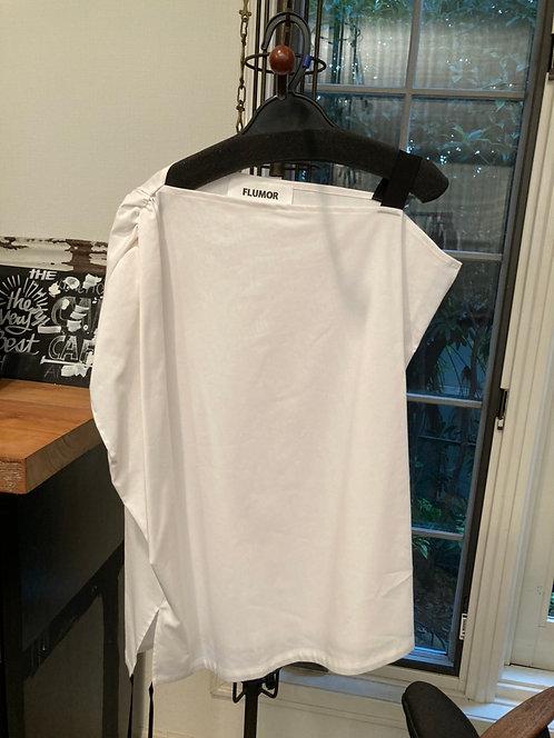 Side gather design blouse