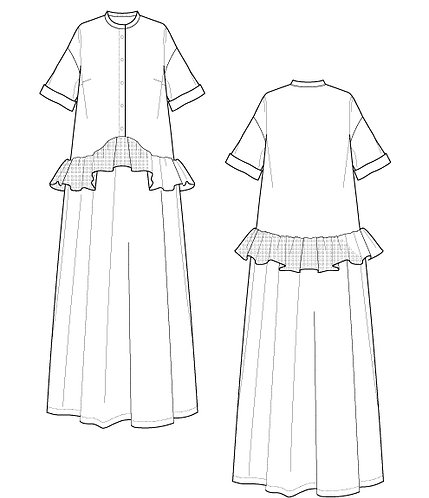 Tulle frilled dress