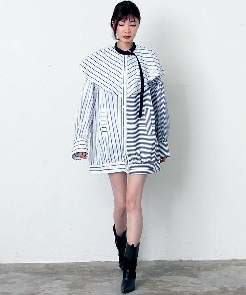 Stripe Cape blouse