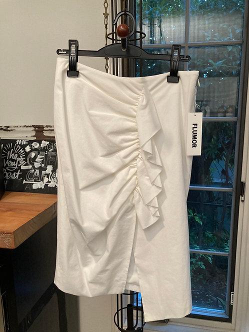 Frill design pencil skirt