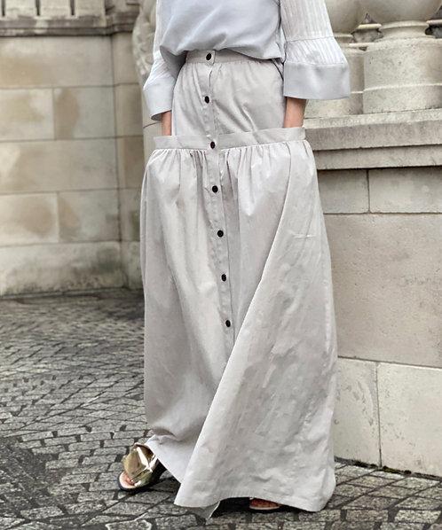 Organic dobby maxi skirt