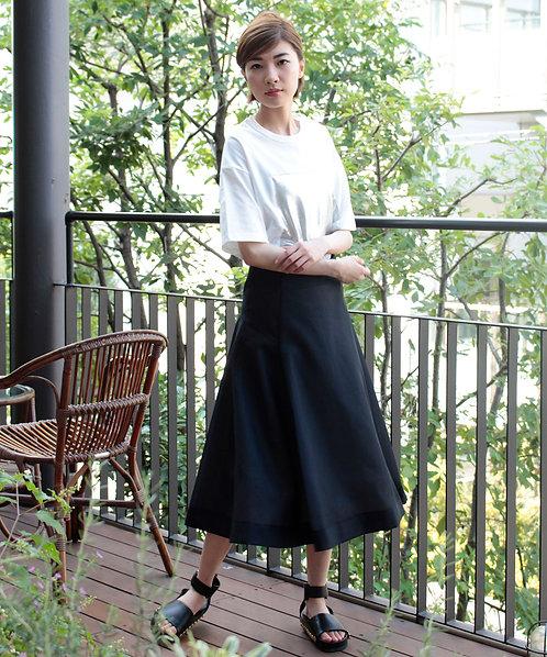 Cotton mesh skirt