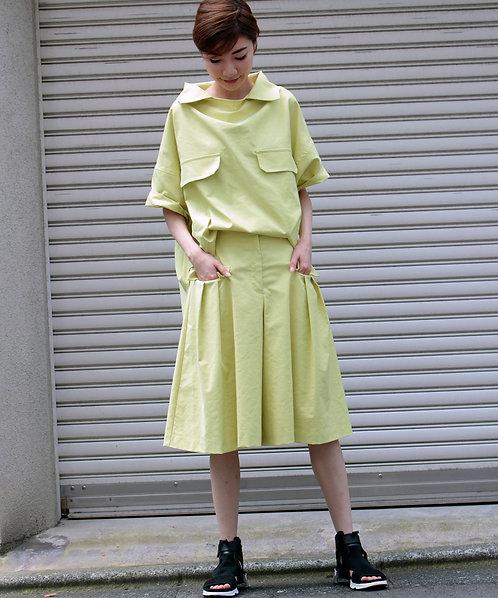 Cotton linen ox skirt