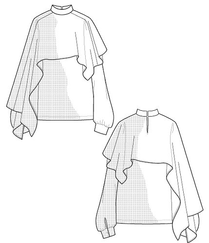 Import optical print blouse