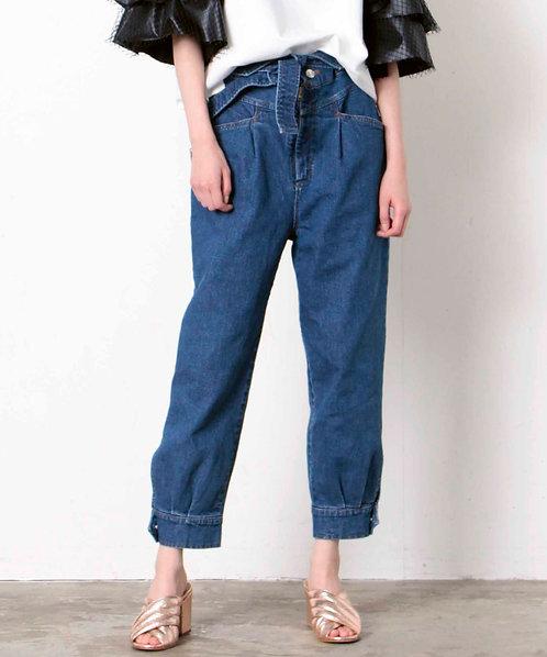 High waist denim pants