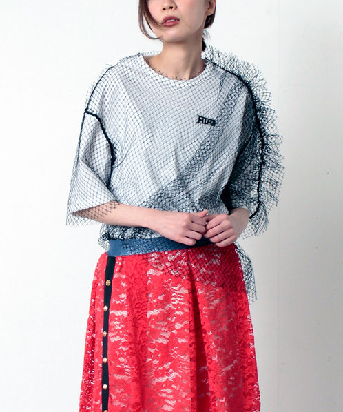Tulle layered pullover