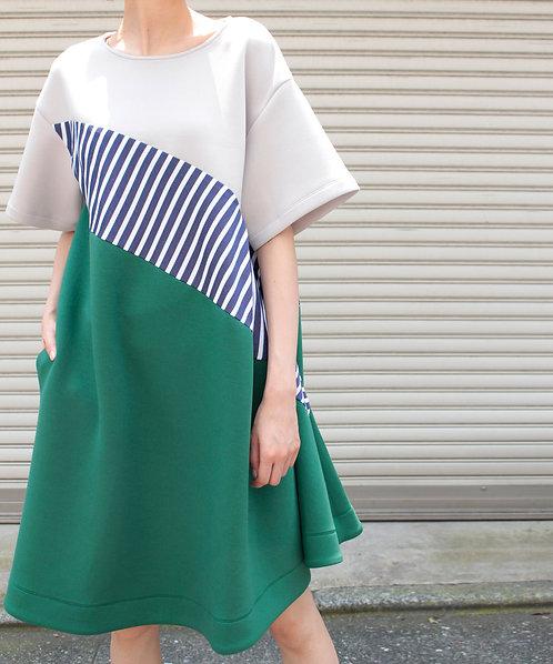 Color stripe change dress