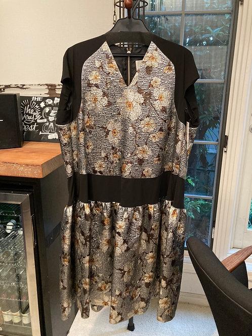 Import floral jacquard dress