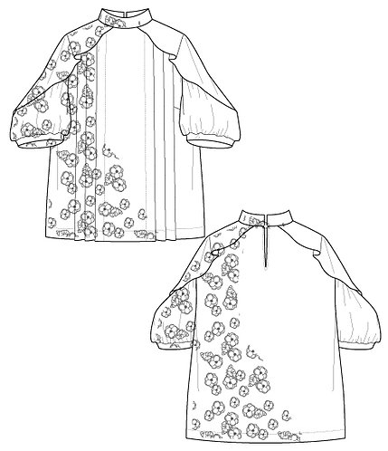 Imported flower print blouse